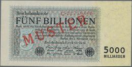 Deutschland - Deutsches Reich Bis 1945: 5 Billionen Mark 1923 MUSTER Aus Laufender Serie, Ro.127M1 M - Non Classés