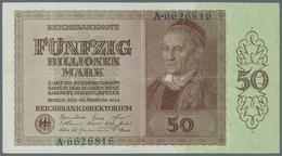 Deutschland - Deutsches Reich Bis 1945: 50 Billionen Mark, 10.2.1924, Reichsdruck, Serie A, Ro. 136, - Non Classés