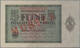 Deutschland - Deutsches Reich Bis 1945: 5 Billionen Mark 1924 MUSTER Mit KN A00000000 Und Rotem Über - Non Classés