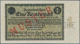 """Deutschland - Deutsches Reich Bis 1945: 1 Rentenmark 1923 Muster, Ro.154M, Roter Überdruck """"Muster"""", - Non Classés"""