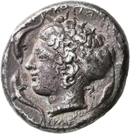 Sizilien - Städte: Siracusa: AR-Tetradrachme, Ca. 485-425 V. Chr., 16,71 G, Sehr Schön. - Griechische Münzen