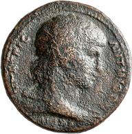 Hadrian (117 - 138): Hadrianus Für Antinoos: Bronze-Medaillon, Zur Erinnerung An Den Im Jahre 130 Er - 3. Die Antoninische Dynastie (96 / 192)
