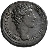 Marc Aurel (139 - 161 - 180): Antoninus I. Pius, 138-161, Für Marcus Aurelius. Æ-Sesterz, Rom; 26,46 - 3. Die Antoninische Dynastie (96 / 192)