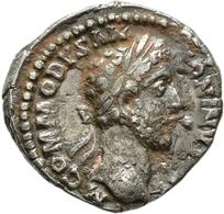 Commodus (166 - 177 - 180 - 192): Commodus 177-192: AR-Denar, 3,27 G, Schrötlingsfehler, Sehr Schön. - 3. Die Antoninische Dynastie (96 / 192)