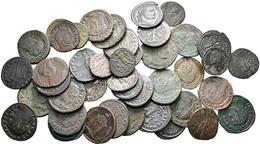 Antike: Römische Kaiserzeit: Lot - über 40 Stück Gross-Follis Des 4. Jahrhundert. Schön-sehr Schön, - Antike