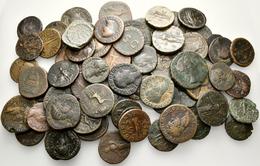 Antike: Römische Kaiserzeit: Lot-über 65 Stück; Bronzemünzen Des 1.-3. Jahrhundert. Etliche Sesterze - Antike