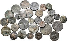 Antike: Griechische Münzen: Lot Von Ca. 30 Bronzemünzen, Ca. 4 Jahrhundert Vor Chr. Bis 2. Jahrhunde - Antike