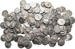 Antike: Römische Kaiserzeit: Lot-über 130 Stück; AR-Denare, Meist 1. Und 2. Jahrhundert, Viele Versc - Monnaies Antiques