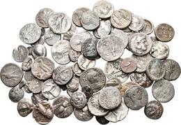 Antike: Griechische Münzen: Lot Von 77 Silbermünzen Des 5. Jahrhundert Vor Chr. Bis 2. Jahrhunddert - Monnaies Antiques