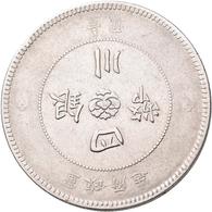 China: Lot 4 Münzen: 1 Dollar (Yuan) Folgender Jahre: Szechuan, Year 1 (1912) KM# Y 456; Präsident Y - Chine