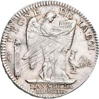 Frankreich: Louis XVI. 1774-1793: Ecu De 6 Livres 1793 A, Paris (Constitution, L AN 5 De La Liberte) - 1789-1795 Monnaies Constitutionnelles