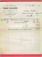 FACTURE 1926 DOCKS D HAUTEVILLE SUR MER MANCHE FABRIQUE D AGGLOMERES GARE MONTMARTIN MANCHE - 1900 – 1949
