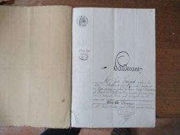 12 NOVEMBRE 1857 VENTE PAR MICHEL FOREST PROPRIETAIRE A VIEUX MESNIL A  AIME GUERIN A BOUSSIERES DE PRAIRIE A BOUSSIERES - Manoscritti