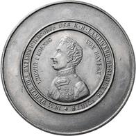 Medaillen Deutschland: Bayern, Ludwig I., 1825 - 1848: Einseitige Zinngußmedaille O.J. (1832, Johann - Zonder Classificatie