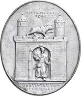 Medaillen Deutschland: Bernburg/Saale: Ovale Zinnmedaille 1943 Von Karl Goetz (1875-1950), Auf Knech - Zonder Classificatie