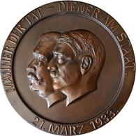 Medaillen Deutschland: Drittes Reich 1933-1945: Einseitige Hohle Bronzegußplakette 1933 Von H. H. Ke - Zonder Classificatie