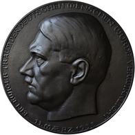 Medaillen Deutschland: Drittes Reich 1933-1945: Große Einseitige Eisengußplakette 1938, Unsigniert, - Zonder Classificatie