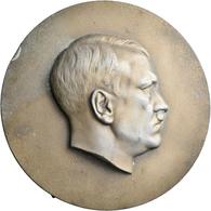 Medaillen Deutschland: Drittes Reich 1933-1945: Hitler, Adolf (1889-1945), Einseitige Bronzierte Zin - Zonder Classificatie