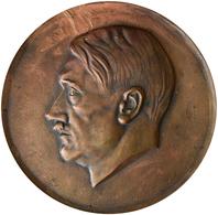 Medaillen Deutschland: Drittes Reich 1933-1945: Hitler, Adolf (1889-1945), Einseitige Hohle Bronzegu - Zonder Classificatie