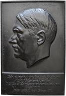 Medaillen Deutschland: Drittes Reich 1933-1945: Hitler, Adolf, Einseitige Eisengußplakette 1933, Sig - Zonder Classificatie