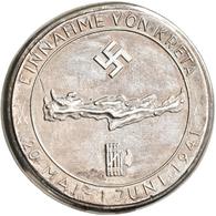 Medaillen Deutschland: Drittes Reich 1933-1945: Silber-Gußmedaille 1941, Auf Die Einnahme Von Kreta - Zonder Classificatie