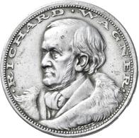 Medaillen Deutschland: Eisenach/Thüringen: Weißmetall-Medaille 1923 Von Karl Goetz, Auf Richard Wagn - Zonder Classificatie