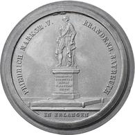 Medaillen Deutschland: Erlangen: Einseitige Zinngussmedaille 1843 Von F. Löffler Und L. Schwanthaler - Zonder Classificatie