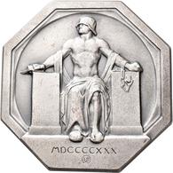 Medaillen Deutschland: Erlangen: Oktogonale Silber-Plakette 1930 Von E. Beyer, Auf Die Einweihung De - Zonder Classificatie