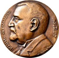 Medaillen Deutschland: Fürth: Bronzegussmedaille 1927 Von Muggenhöfer, Auf Den 70. Geburtstag Von Ka - Zonder Classificatie