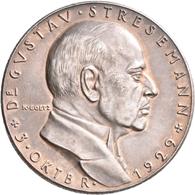 Medaillen Deutschland: Goetz, Karl: Silbermedaille 1929, Auf Den Tod Von Gustav Stresemanns. Brustbi - Zonder Classificatie