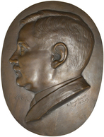 Medaillen Deutschland: Große Ovale Bronzegussmedaille 1929, Signiert A. Engelhardt, 28,5 X 21 Cm, 20 - Zonder Classificatie