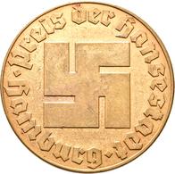 Medaillen Deutschland: Hamburg, Bronzene Preismedaille Der Stadt Hamburg. Ca. 45,5 Mm, 39 G. Umschri - Zonder Classificatie