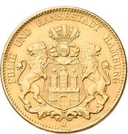 Medaillen Deutschland: Hamburg: 20 Mark 1912 J, Gold-vermutlich 900/1000, 7,98 G. Bei Dieser Münze H - Zonder Classificatie
