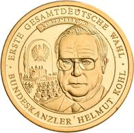 Medaillen Deutschland: Lot 8 Goldmedaillen Um 1990 Mit Folgenden Motiven: Berlin, Hauptstadt Deutsch - Zonder Classificatie