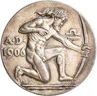 Medaillen Deutschland: München: Silbermedaille 1906 Von Römer, Schützenmedaille Auf Das XV. Deutsche - Zonder Classificatie