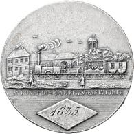 Medaillen Deutschland: Nürnberg: Einseitige Zinngussmedaille 1835 Von J.G. Loeffler D.J., Auf Die Er - Zonder Classificatie
