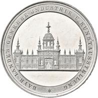 Medaillen Deutschland: Nürnberg: Zinnmedaille 1882, Unsigniert, Stempel Von H. Weckwerth, Auf Die Ba - Zonder Classificatie