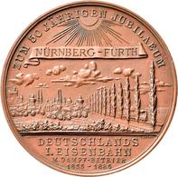 Medaillen Deutschland: Nürnberg: Bronzemedaille 1885, Von Lauer; Auf Das 50-jährige Bestehen Der Ers - Zonder Classificatie