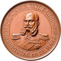Medaillen Deutschland: Nürnberg: Bronzemedaille 1887 Von Lauer; Kaiser Wilhelm 90. Geburtstag Am 22. - Zonder Classificatie