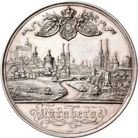 Medaillen Deutschland: Nürnberg: Silbermedaille 1896 Von L. Chr. Lauer, Auf Die Bayerische Landes-Ob - Zonder Classificatie