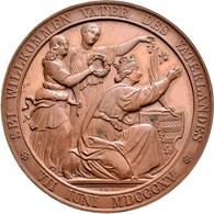 Medaillen Deutschland: Sachsen, Friedrich August II. 1836-1854: Bronzemedaille 1843, Von A.F. König, - Zonder Classificatie