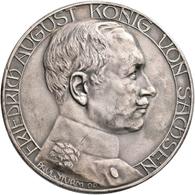 Medaillen Deutschland: Sachsen, Friedrich August III. 1904-1918: Silbermedaille O.J. Von Paul Sturm. - Zonder Classificatie