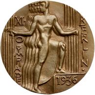 """Medaillen Deutschland: Teilnehmermedaille Der """"XI. Olympiade Berlin 1936"""" Aus Bronze Vom Otto Placze - Zonder Classificatie"""