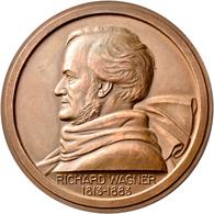 Medaillen Deutschland: Wagner, Richard 1813-1883: Bronzemedaille O. J. (1954) Von Lucien Bazor. Brus - Zonder Classificatie