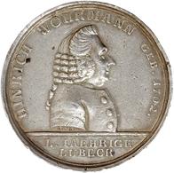 Medaillen Deutschland - Personen: Silbermedaille 1784 Von A. Aaron Auf Die Goldene Hochzeit Des Hinr - Zonder Classificatie