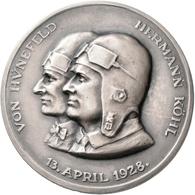 Medaillen Deutschland - Personen: AR Medaille 1928 Auf Den Ost-West-Ozean-Flug Der Bremen über Den A - Zonder Classificatie