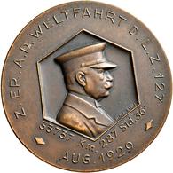 Medaillen Deutschland - Personen: Bronze Medaille 1929 Von Mayer Und Wilhlelm Stuttgart Auf Die Welt - Zonder Classificatie