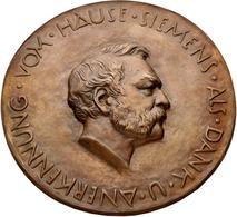 Medaillen Deutschland - Personen: Heinrich Von Siemens: Bronzemedaille / Einseitiges Medaillon Im Or - Zonder Classificatie