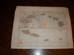 Polynesische Inselgruppen Volks Und Fanilien Atlas A Shobel Leipzig 1901 - Mapas Geográficas
