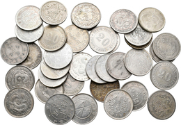 China: Lot 36 X 20 Cents Münzen Um 1920, Nicht Näher Bestimmt, überwiegend Aus Der Kwang-Tung Provin - Chine